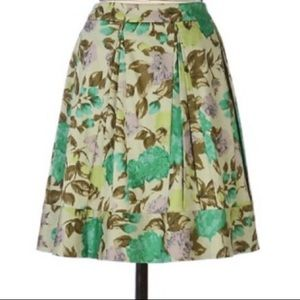 💚ANTHROPOLOGIE💚WINTER GREEN FLORAL SKIRT💚